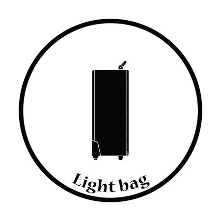 Icon of studio photo light bag. Thin circle design. Vector illustration. Illustration