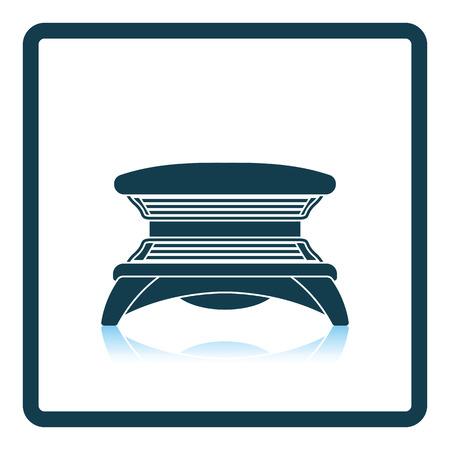 Icono de Solarium. diseño de la sombra reflexión. Ilustración del vector.