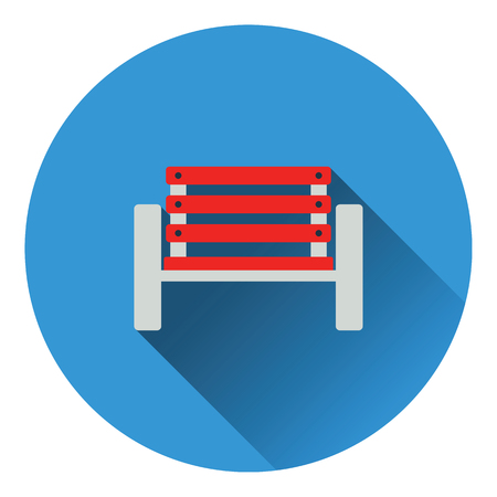 absent: Tennis player bench icon. Flat color design. Vector illustration.