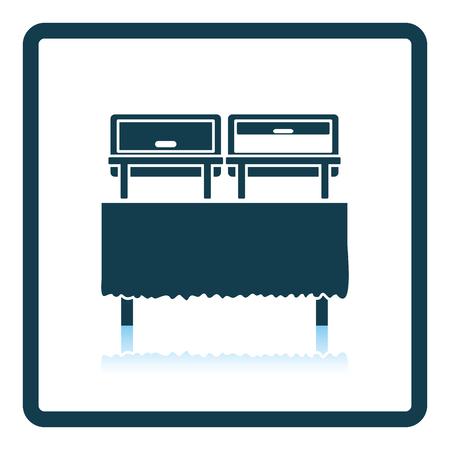 warmer: Chafing dish icon. Shadow reflection design. Vector illustration. Illustration