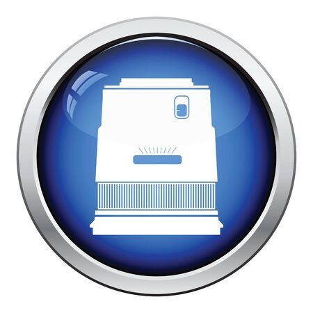 stabilizer: Icon of photo camera wide lens. Glossy button design. Vector illustration. Illustration