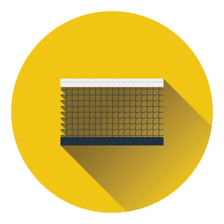 tennis net: Tennis net icon. Flat color design. Vector illustration. Illustration