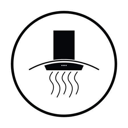 stove top: Kitchen hood icon. Thin circle design. Vector illustration. Illustration