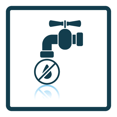 water reflection: Water faucet with dropping water icon. Shadow reflection design. Vector illustration.