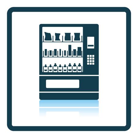 食品販売機アイコン。影反射設計。ベクトルの図。