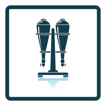 siphon: Soda siphon equipment icon. Shadow reflection design. Vector illustration.