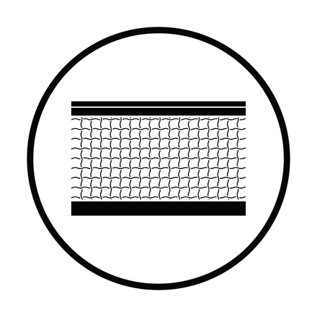 synthetic court: Tennis net icon. Thin circle design. Vector illustration. Illustration
