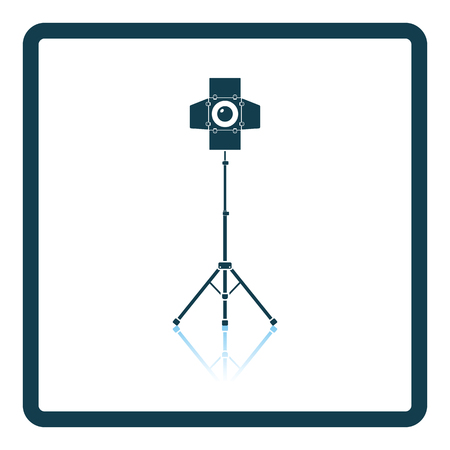 film title: Icon of curtain light. Shadow reflection design. Vector illustration. Illustration