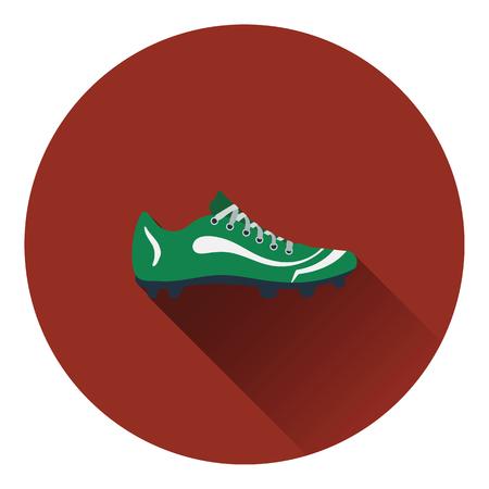 American football boot icon. Flat color design. Vector illustration.