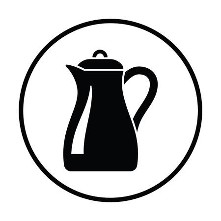 jug: Glass jug icon. Thin circle design. Vector illustration.