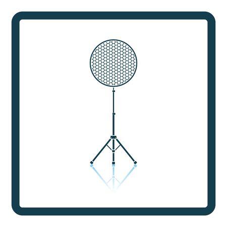 Icon of beauty dish flash. Shadow reflection design. Vector illustration. Illustration
