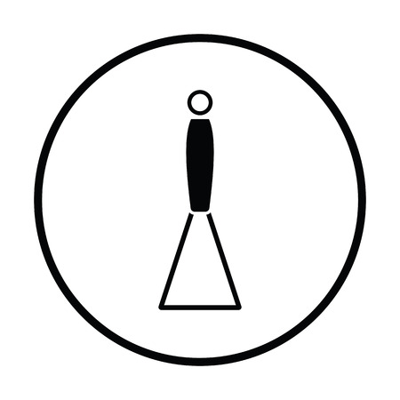 masher: Potato masher icon. Thin circle design. Vector illustration.