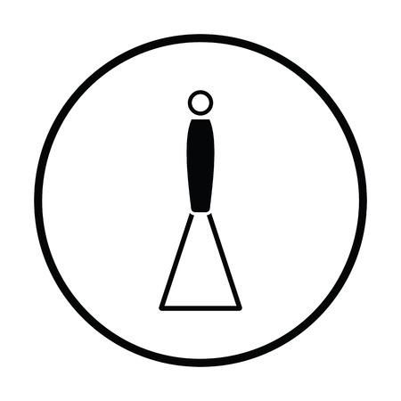 Potato masher icon. Thin circle design. Vector illustration.