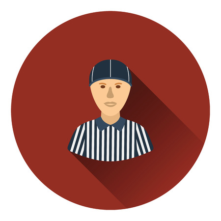 football referee: American football referee icon. Flat color design. Vector illustration. Illustration