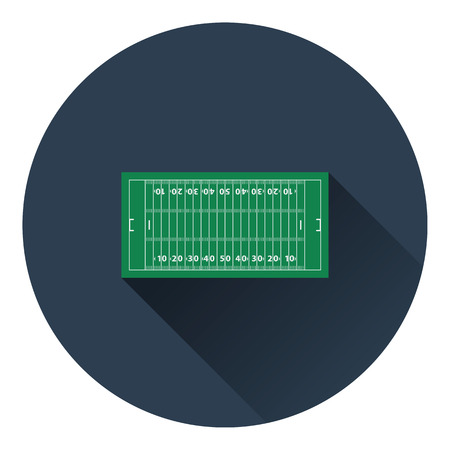 touchdown: American football field mark icon. Flat color design. Vector illustration.