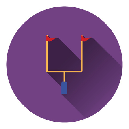 goal post': American football goal post icon. Flat color design. Vector illustration.