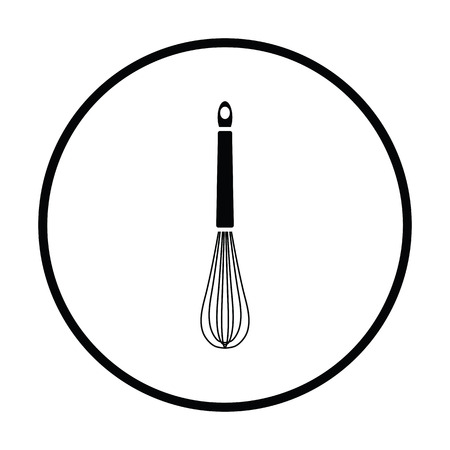 corolla: Kitchen corolla icon. Thin circle design. Vector illustration.