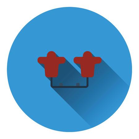 sled: American football  tackling sled icon. Flat color design. Vector illustration. Illustration
