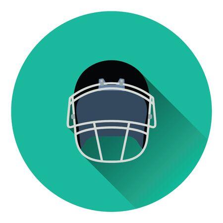 American football helmet icon. Flat color design. Vector illustration.