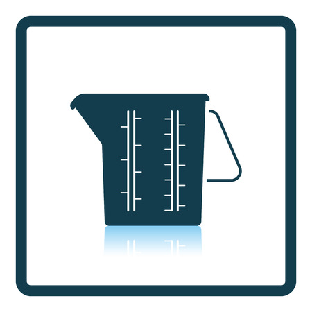 glass reflection: Measure glass icon. Shadow reflection design. Vector illustration.