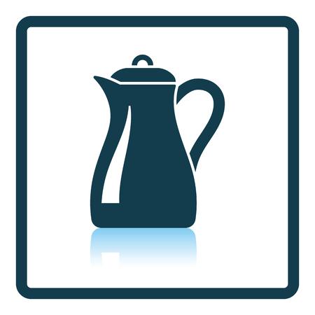 glass reflection: Glass jug icon. Shadow reflection design. Vector illustration. Illustration