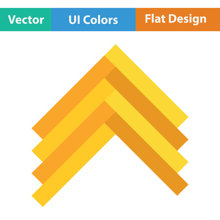 Parquet icon. Flat color design. Vector illustration. Illustration