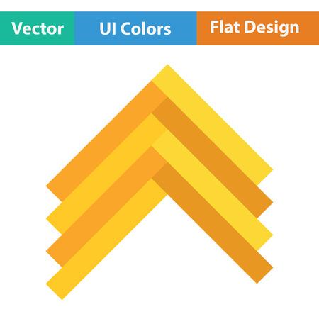 timber floor: Parquet icon. Flat color design. Vector illustration. Illustration