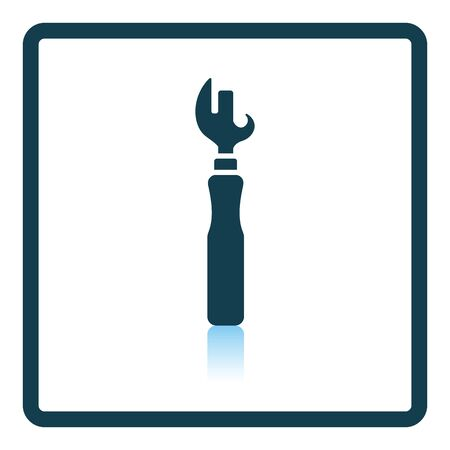 can opener: Can opener icon. Shadow reflection design. Vector illustration.