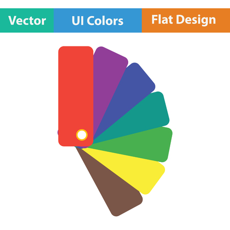 paperhanging: Color samples icon. Flat color design. Vector illustration. Illustration