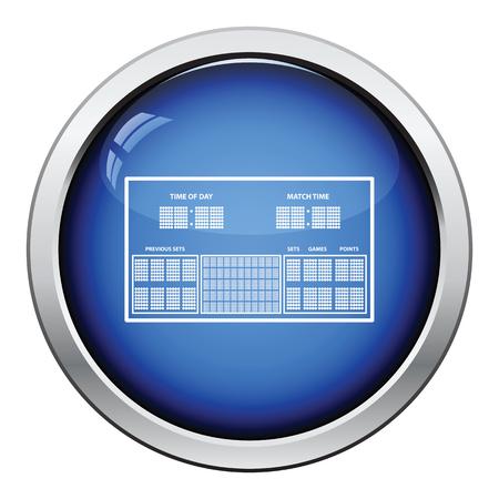 off the record: Tennis scoreboard icon. Glossy button design. Vector illustration.
