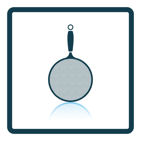 Kitchen colander icon. Shadow reflection design. Vector illustration.