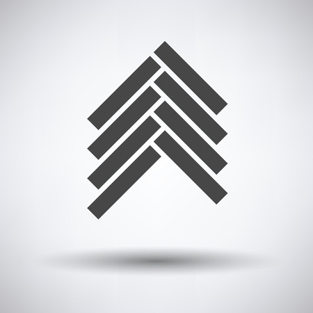humid: Parquet icon on gray background, round shadow. Vector illustration.