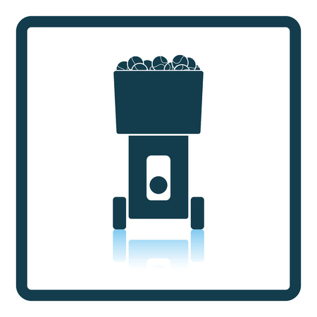 serve: Tennis serve ball machine icon. Shadow reflection design. Vector illustration.