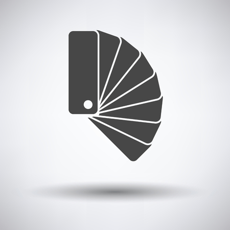 color samples: Color samples icon on gray background, round shadow. Vector illustration.