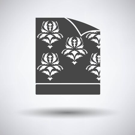 paperhanging: Wallpaper icon on gray background, round shadow. Vector illustration. Illustration