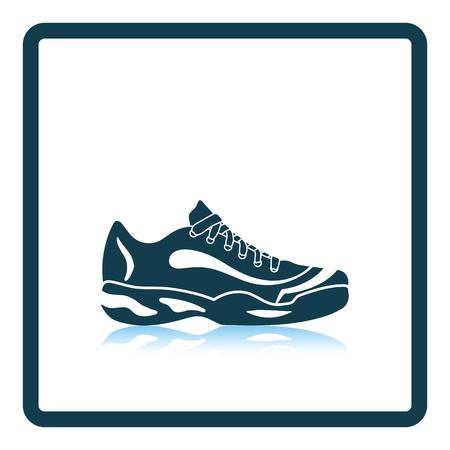 runner up: Tennis sneaker icon. Shadow reflection design. Vector illustration. Illustration