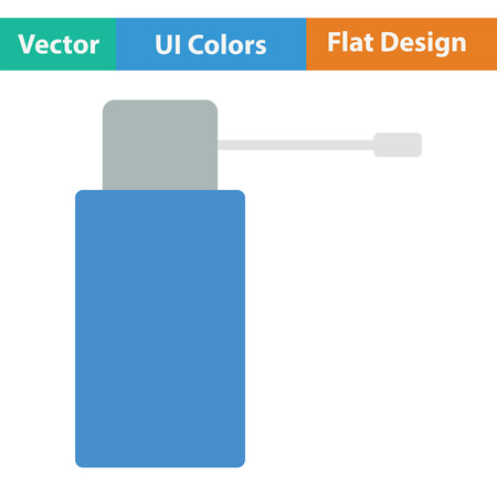 necessity: Inhalator icon. Flat color design. Vector illustration. Illustration