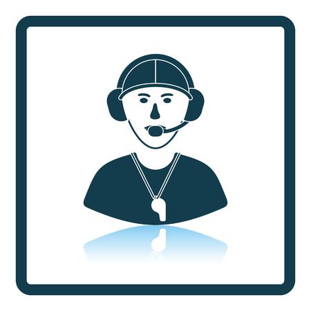 football coach: American football coach icon. Shadow reflection design. Vector illustration.