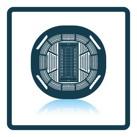 rou: American football stadium birds-eye view icon. Shadow reflection design. Vector illustration. Illustration