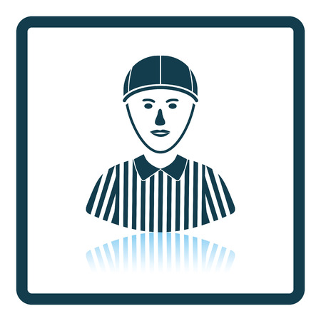 football referee: American football referee icon. Shadow reflection design. Vector illustration.