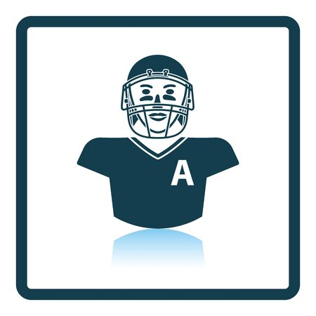 facemask: American football player icon. Shadow reflection design. Vector illustration. Illustration