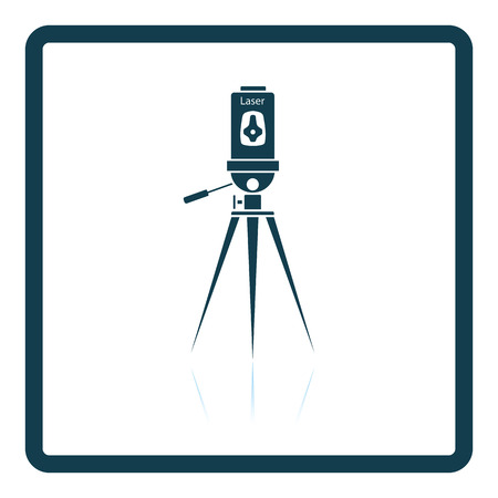 height measure: Laser level tool icon. Shadow reflection design. Vector illustration.