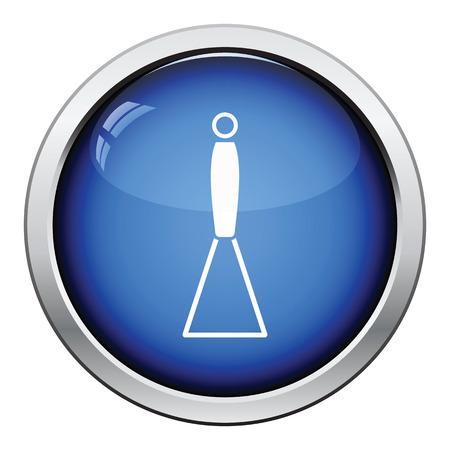 masher: Potato masher icon. Glossy button design. Vector illustration.