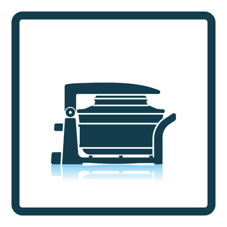 hotter: Electric convection oven icon. Shadow reflection design. Vector illustration.