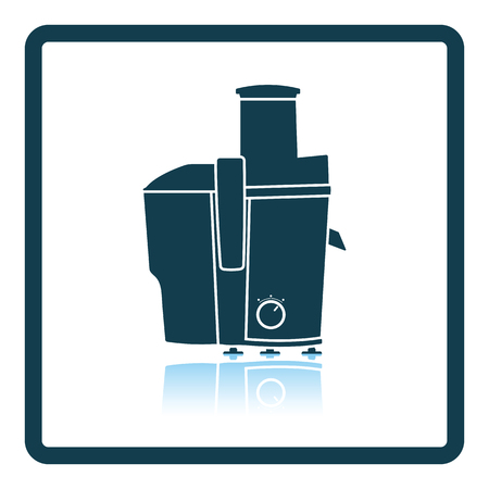 juice extractor: Juicer machine icon. Shadow reflection design. Vector illustration.
