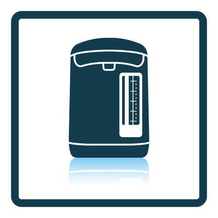 electric kettle: Kitchen electric kettle icon. Shadow reflection design. Vector illustration.
