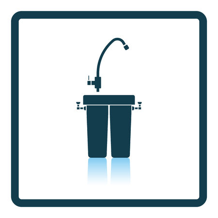 reflection in water: Water filter icon. Shadow reflection design. Vector illustration.