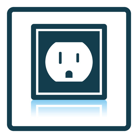 electric outlet: Electric outlet icon. Shadow reflection design. Vector illustration.