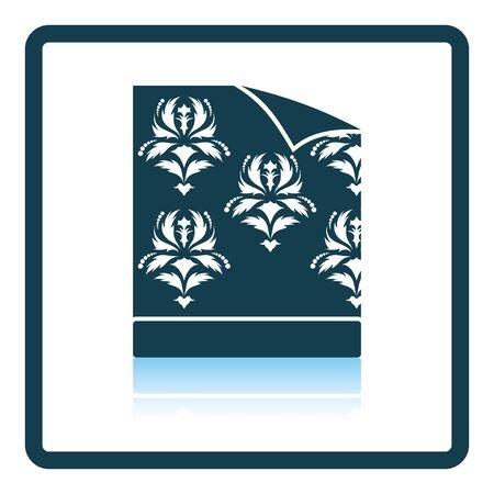 wallpapering: Wallpaper icon. Shadow reflection design. Vector illustration.