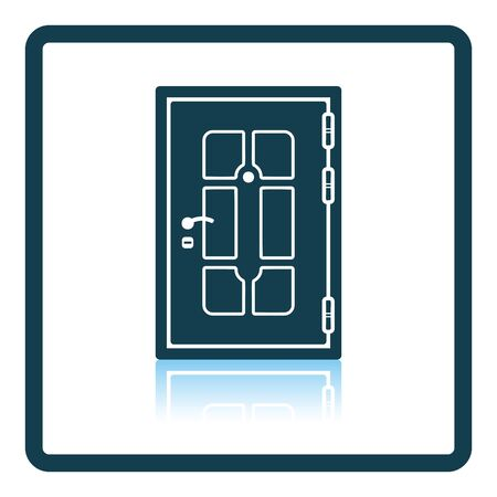 single entry: Apartments door icon. Shadow reflection design. Vector illustration. Illustration